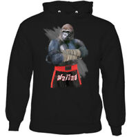Gorilla Fighter Mens Martial Arts Hoodie Gym MMA Training Top Muay Thai Boxing