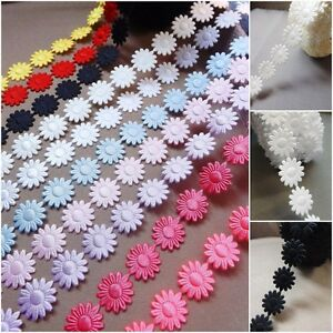 Daisy Flowers trim satin lace ribbon CRAFTS scrapbook wedding sewing