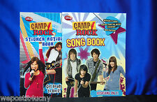 2 Camp Rock Activity Books Jonas Brothers Sticker Book Song Book