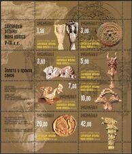 Kirguistán 2003 Historia/Patrimonio/Moneda/Talla/Escudo/León/Goat 8 V Sht (s2216y)