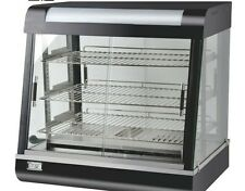 COMMERCIAL HOT FOOD SNACK/ PIES GLASS DISPLAY WARMER SHOWCASE WITH LIGHT