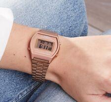 orologio casio vintage digitale lcd da donna acciaio rosa cronografo alarm timer