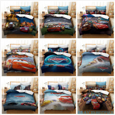 New 3D Cars Cartoon Bedding Duvet Cover Pillowcases Us / Eu /Au Holiday Gift