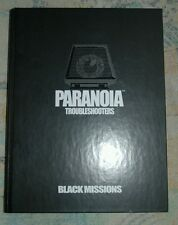 Paranoia rpg Troubleshooters Black Missions *ultrarare* Mint with disc