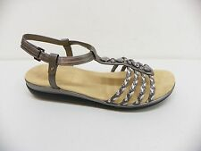 Easy Spirit Women Shoe Loris Open Toe Ankle Strap Sandal Silver Pewter 11M $75