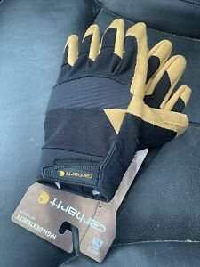 Carhartt Mens Flex Tough 2 High Dexterity Gloves Size XL Black/Barley MSRP $32