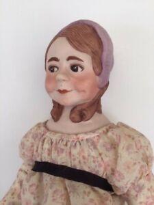 """Caroline"" Faith Wick doll porcelain bisque 14-1/2"" bonnet head, UFDC, NIADA"