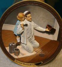 """Norman Rockwell Centennial """"The Painter"""" 3-D Plate #1102A Coa and original box"""