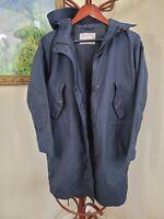 Everlane Womens Navy Blue Rain Coat Cinched Waist XS (CC5)
