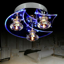 Dining Room LED Lamp Crystal Chandelier Ceiling Light Retro Moon Star Home Decor