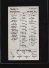 1968 PITCHING RECORD CARD TOM SEAVER OV2666