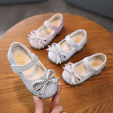 Kids Girls Pearl Casual Sandal Bling School Party Shoes Princess Wedding Shoes