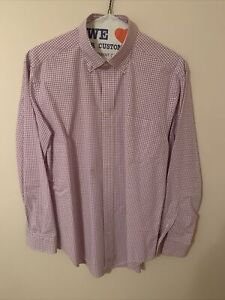 Vineyard Vines Performance Classic Fit Murray Gingham Shirt sz M Purple Check