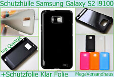 TPU Silikon Cover Tasche Etui Case Samsung Galaxy S2 i9100 Schutz hülle + Folie