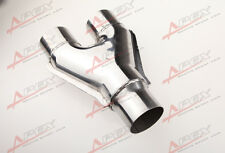 "Universal Custom Exhaust Y-Pipe 4"" Dual 3.5"" Single Steel Polished"