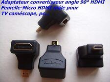 UN MICRO HDMI MÂLE HDMI FEMELLE  STANDARD , ANGLE 90° ADAPTATEUR CONVERTISSEUR