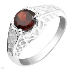 1.10 ctw Red Garnet SSilver Ring-Sz 7-$109.