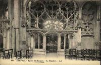 Dieppe Frankreich CPA ~1914/18 Eglise St. Jaques Le Sépulcre Innenansicht Kirche