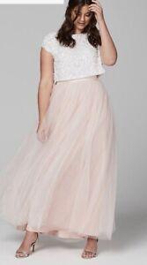 COAST Blush Pink Tulle Maxi Skirt Wedding  Bridesmaid Prom Size 18 BNWT