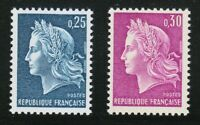 France 1967 MNH Mi 1602-1603 Sc 1197-1198 Marianne **