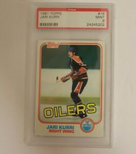 1981 Topps Hockey Jari Kurri ROOKIE RC #18 PSA 9 MINT