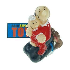 Vtg Popeye the Sailorman OLIVE OYL + SWEE PEA original PVC figure KFS made 60s