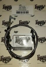 Lokar Vs-1005 Vintage Series Throttle Cable Kit black with red tracer