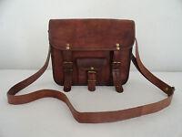 "11"" Vintage Leather Messenger Bag Tab/iPad Sling Purse Handbag Crossbody Bag"