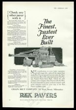 1927 Rex Paver road paving roadmaking machine photo vintage print ad