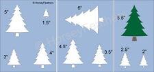NEW-Christmas Tree A~Shapes STENCIL~DIY U Paint Holiday Pine Fresh Farm Truck