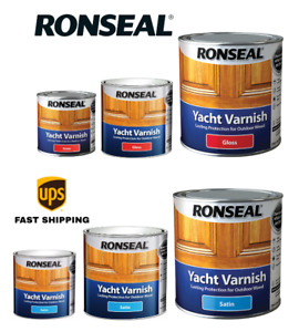 Ronseal Yacht Varnish Satin - Gloss Long lasting protection All Sizes