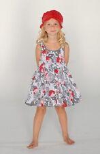 NWT ELIANE & LENA Paris floral VIRTUELLE baby girl Tank Dress sz 2Y 3Y 4Y 45R18