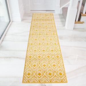 Ochre Trellis Hallway Runner Long Easy Living Moroccan Geometric Hall Runner Rug