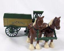 Horse drawn Wagon Watkins Ertl Die-cast Metal Bank RETIRED Advertising