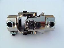 "9/16-26 X 3/4 "" DD Universal CHROME Steering U Joint Manual Ford Mercury Hot Rod"