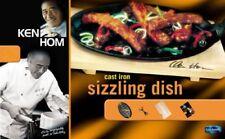 KEN HOM Cast Iron SIZZLING DISH STEAK SIZZLE SERVING PLATTER PLATE GRILL