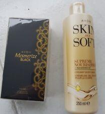 Eau de Toilette Spray   AVON MESMERIZE BLACK 50 ml und Skin So Soft Cremdusche