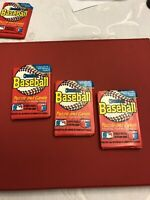 Donruss 1988 Baseball Vintage Wax Pack Unopened (3 Pack Lot)