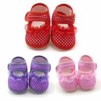 Newborn Infant Baby Socks Sneaker Girls Boys Lace Hook Prewalker Toddler Shoes