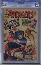 Avengers #4 Marvel 1964 CGC 2.5 1st Silver Age Captain America
