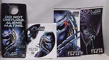 AVP Alien vs Predator Video Release Promo Lot Of 4 Items - Sticker & Door Sign!!