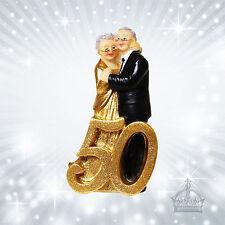 50 Jahre goldene Hochzeit Dekofigur Tischdeko  Figur  Jubilar Paar Zahl  US40