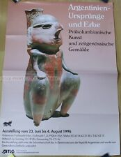GERMAN EXHIBITION POSTER 1996 - ARGENTINA - ORIGINS AND LEGACY pre-colombian