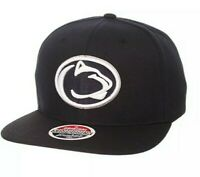 NCAA Black Inverted Penn State Nittany Lions Snapback Hat Basketball Cap NEW