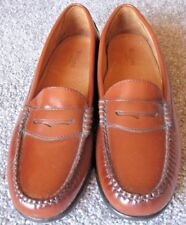 G. H. Bass Weejuns Womens Shoes Sz. 10 Medium Brown Leather Loafer #1381 S