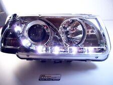 Scheinwerfer für VW Polo 6N Chrom LED Tagfahrlicht Optik Baujahr 1995-1998