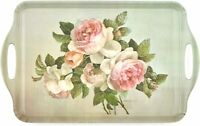 "Pimpernel Antique Roses Collection Large Handled Melamine Tray - 18.9"" x 11.6"""