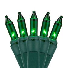 Home Accents Set of 100 Green Mini St Patrick's Day, Christmas Lights Green Wire