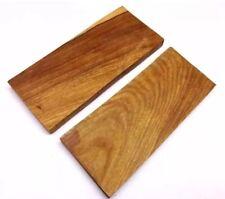 COPPIA di legno di ulivo SCALE COLTELLO MANICO facendo BIANCHI Crafts 11.5X4.5cm olwd