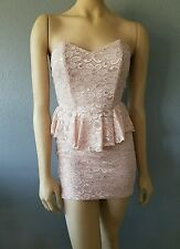 Valentine's Day Spring and Summer Ready Dress in Rose Pink SIZE L